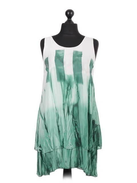 Italian Tie and Dye Two Layered Sleeveless Tops