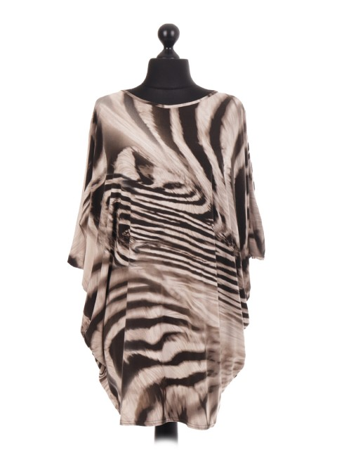 Animal Print Baggy Tunic