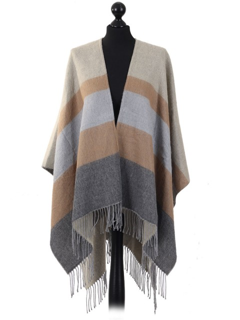 Fringed Striped Cape Grey