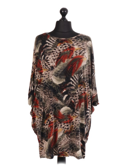 Lagenlook Batwing Printed Top - TP01