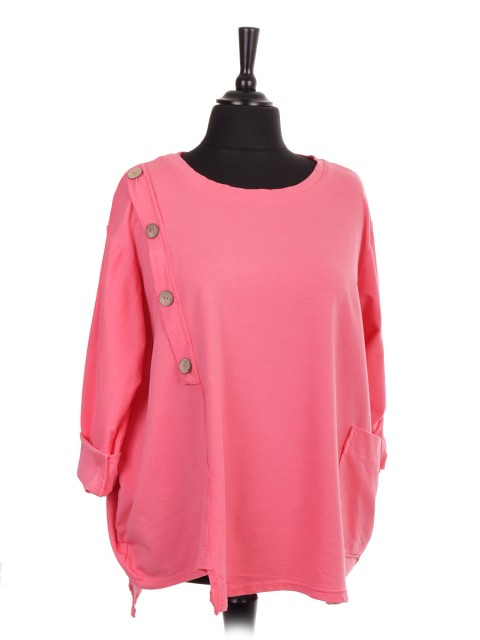 Italian Button Panel Top With Front Pocket