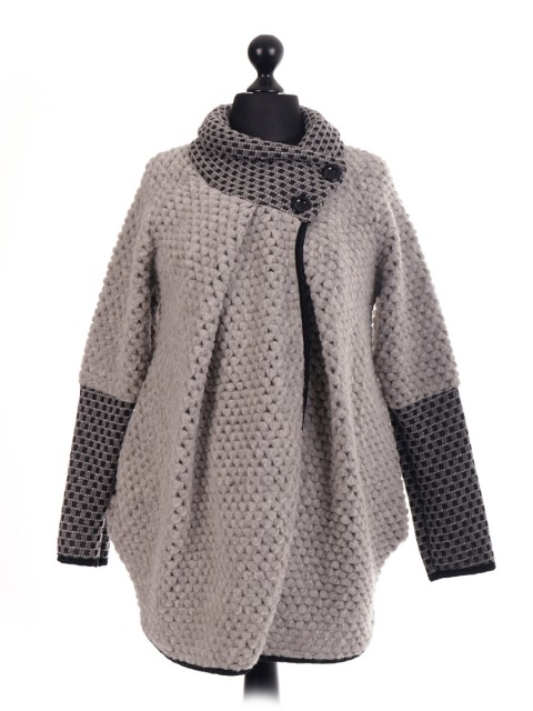 Italian Wool Mix Cocoon Coatigan Coat