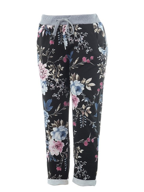 Italian Cotton Floral Print Summer Trouser