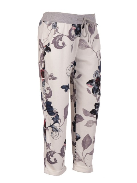 Italian Cotton Floral  Print Trouser
