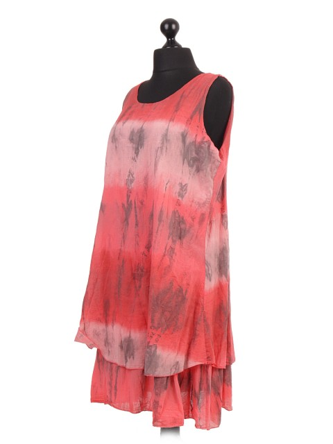 Italian Cotton Two Layered Tie & Dye Dress