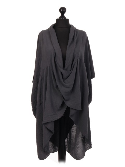 Italian Cotton Wrap Over Lagenlook Top