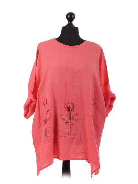 Italian Applique Tulip Tunic Top