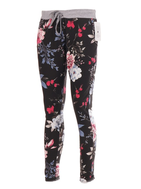 Italian Floral Printed Cotton Trouser