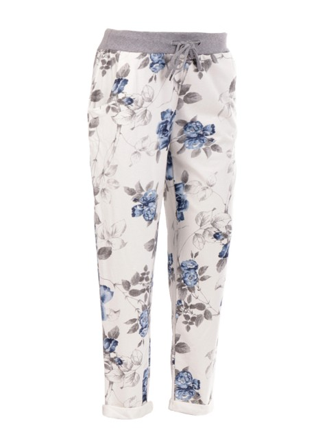 Made in Italy Floral Printed Trouser