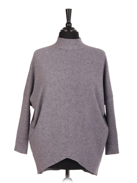 Italian High Neck Batwing Jumper