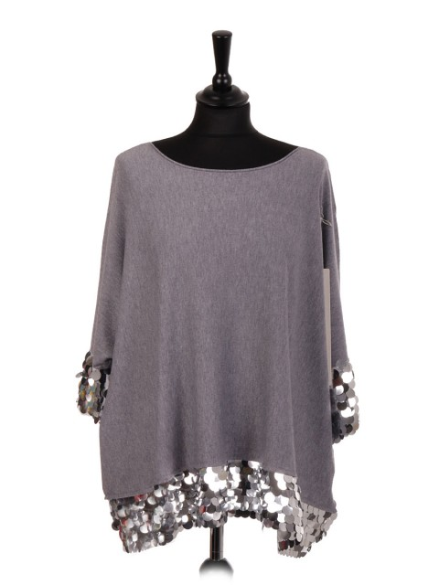 Italian Knitted Jumper with Disc Sequin Detail