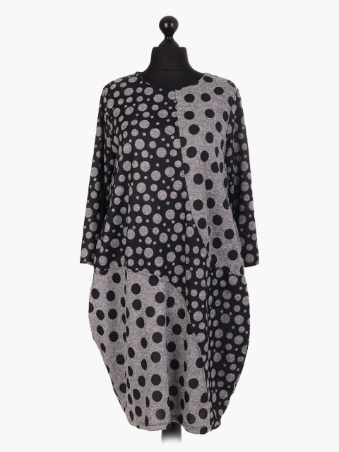 Italian Polka Dot Lagenlook Dress