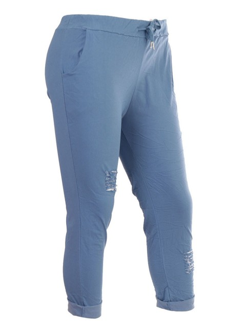 Italian Ripped Magic Pants with Side Pockets