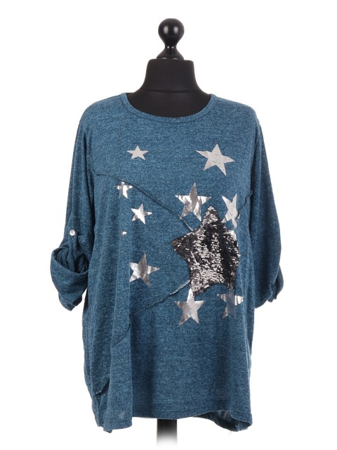 Italian Sequin Star Top