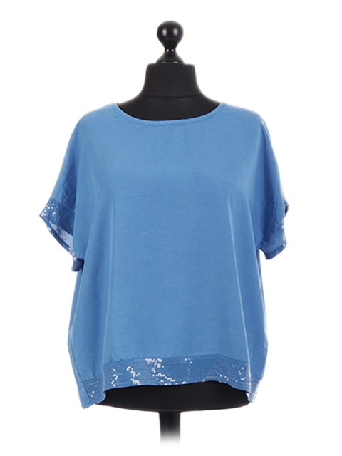 Italian Sequinned Oversized Slouch Top