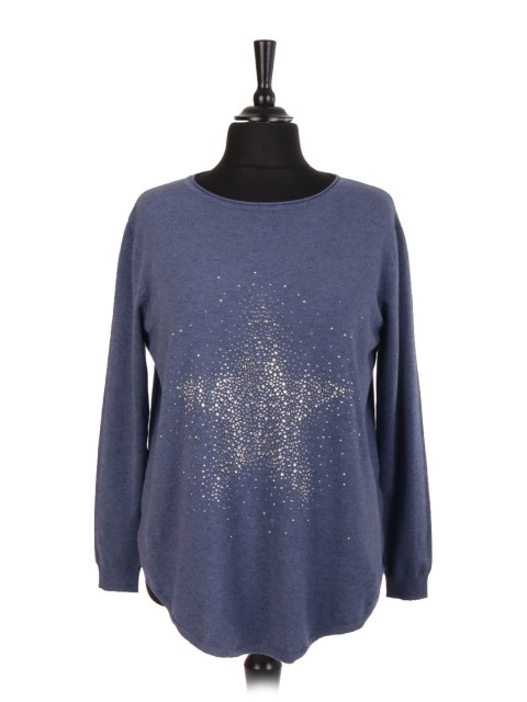 Italian Star Diamante Jumper