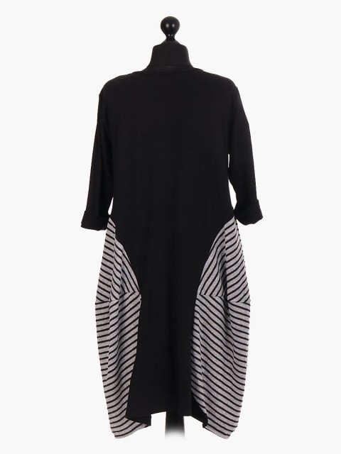Italian Stripe Print Lagenlook Dress