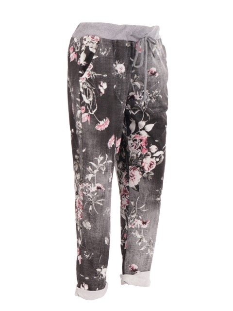 Made in Italy Floral Print Trousers