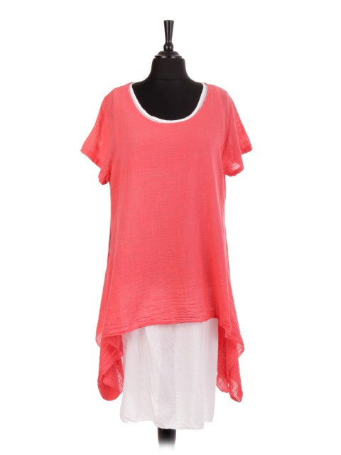 Italian Two Layered Cotton Tunic Dress