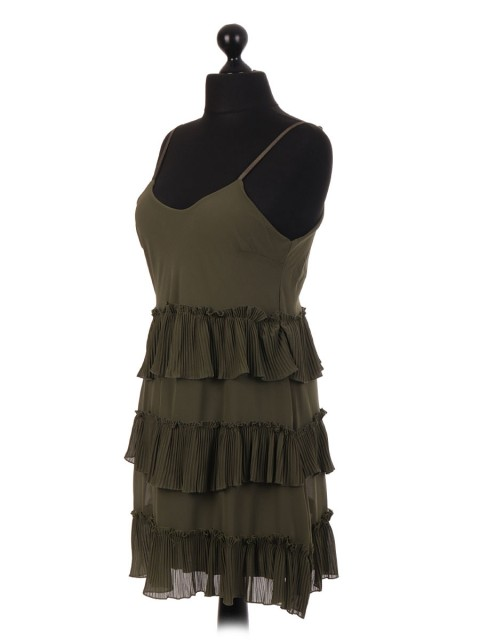 Italian Two Layered Frill Panelled Strappy Top