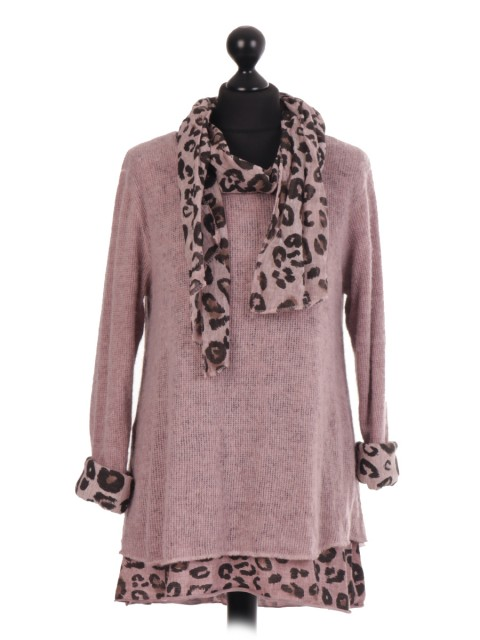 Italian Two Layered Top With Scarf