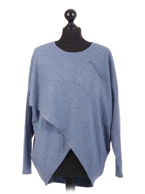 Wrap Over Knitted Jumper