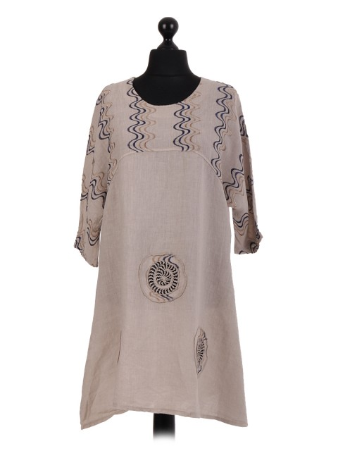 Italian Linen Embroidered Baggy Tunic