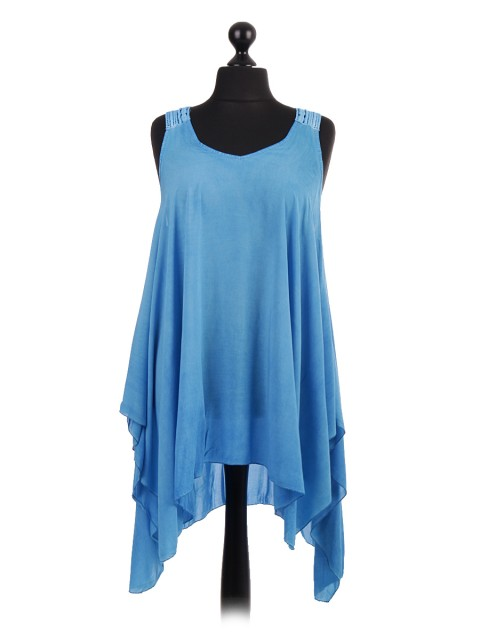 Italian Crotchet Shoulder & Back Quirky Tunic Top
