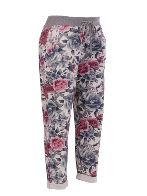 Made In Italy Floral Print Trouser