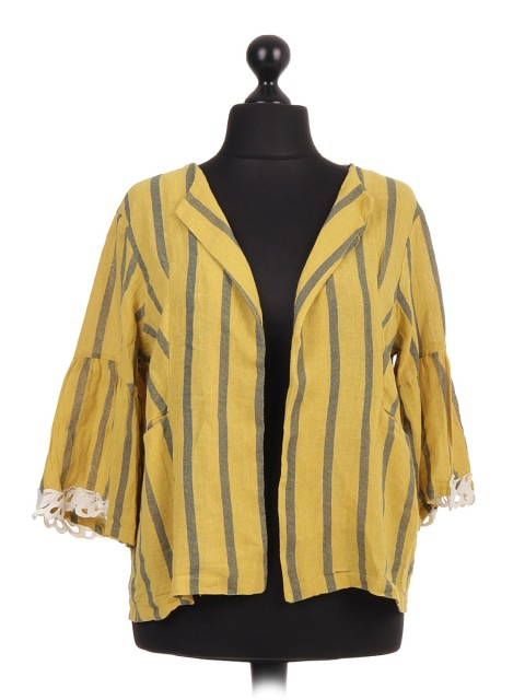 Italian Striped Linen blazer