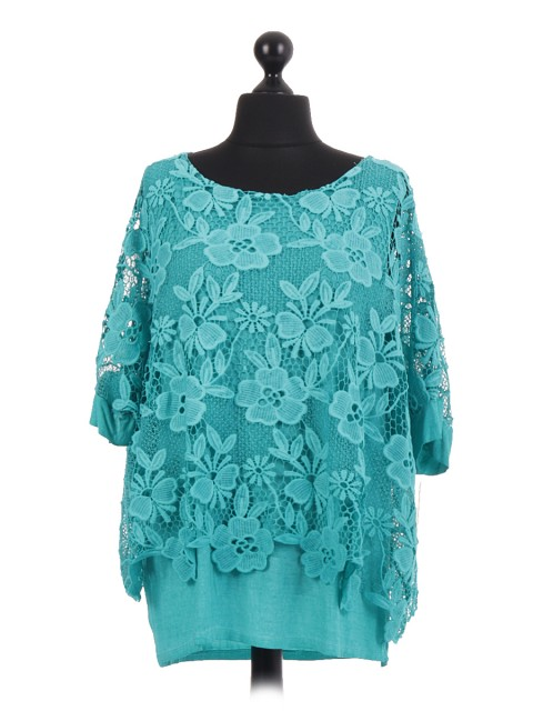 Italian Crotchet Net Layered Top