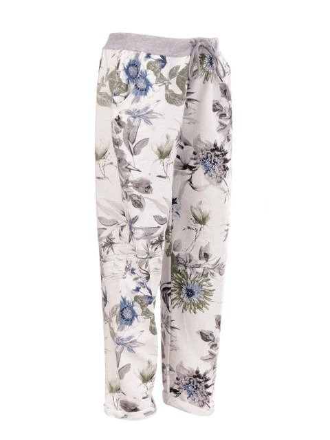 Plus Size Made In Italy Printed Trouser
