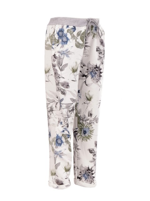 Large Italian Floral Printed Printed Trouser