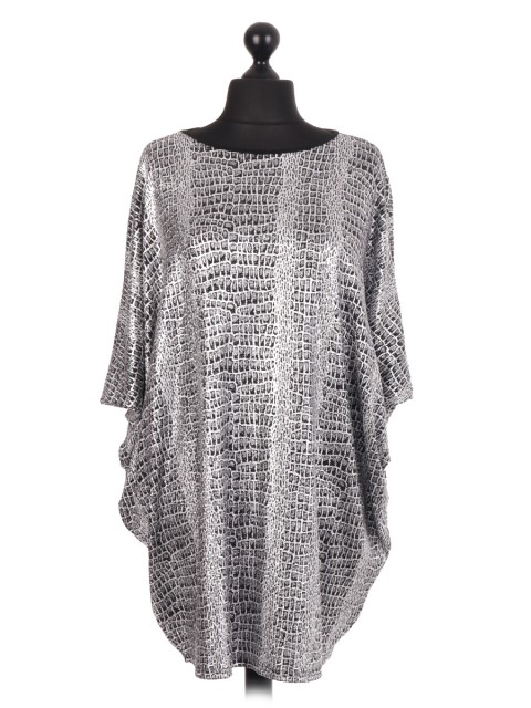 Snake Skin Shimmery Batwing Top