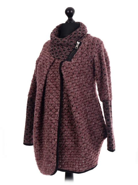 Italian Wool Mix Cocoon Coatigan Jacket Coat