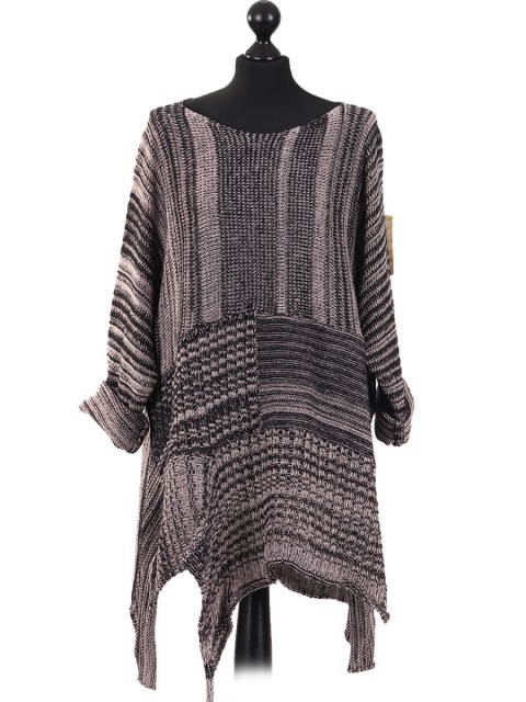 Italian Woollen Knitted Tunic Top Nude