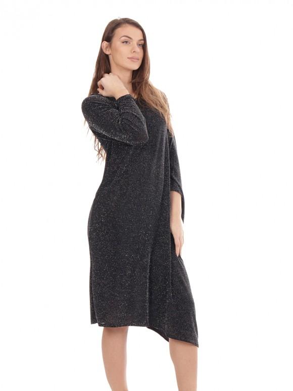 Glittery Asymmetric Long Dress