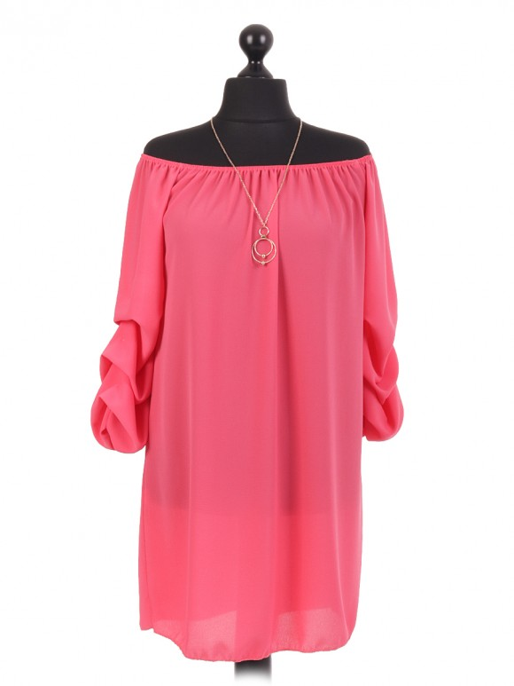 Italian Bardot Top With Necklace