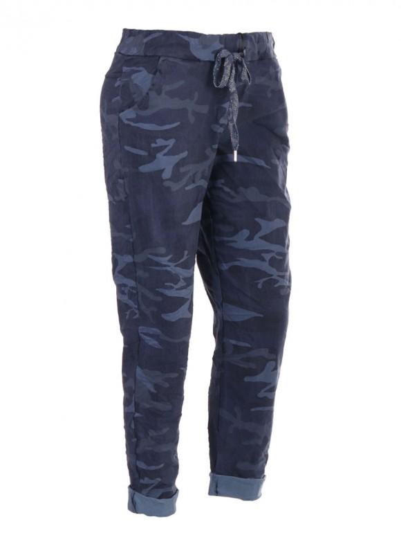 Italian Camouflage Print Magic Trousers