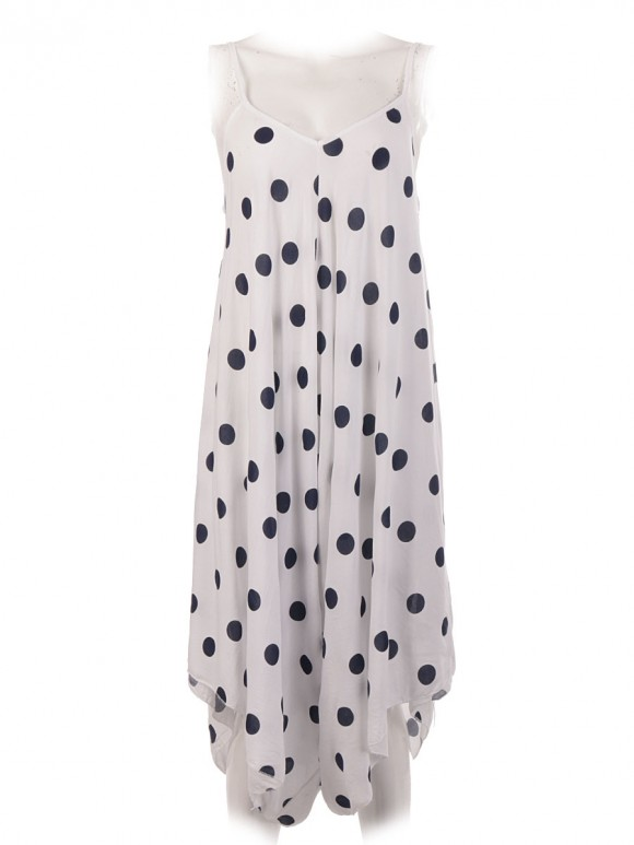 Italian Cotton Polka Dot Jumpsuit