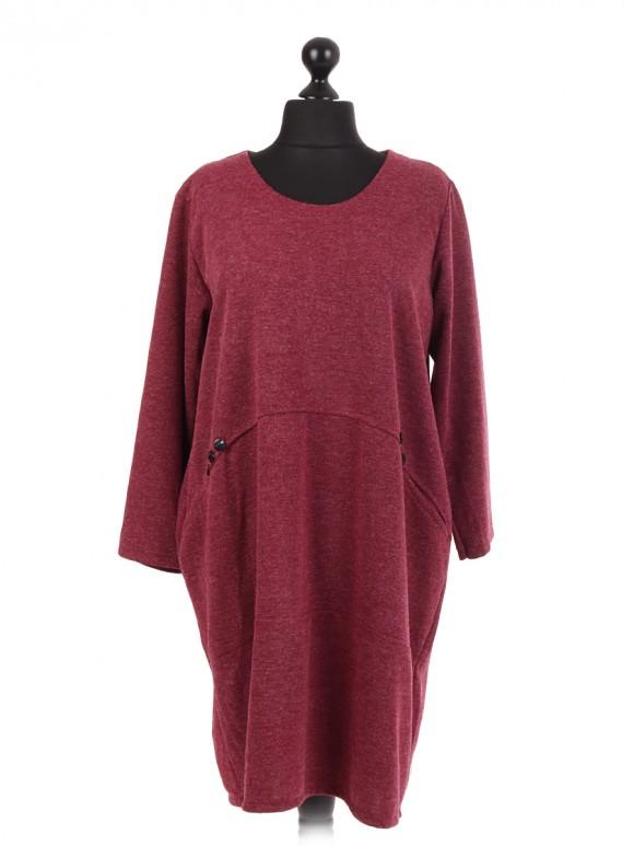 Italian Lagenlook Dress With Side Pockets