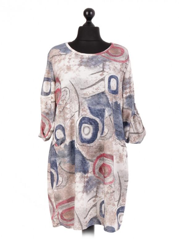 Italian Lagenlook Printed Dress