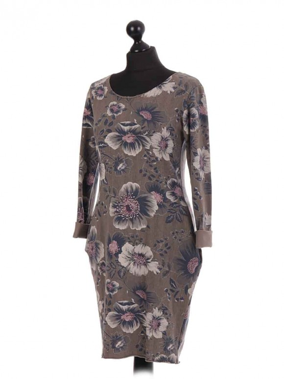 Italian Large Floral Quirky Dress