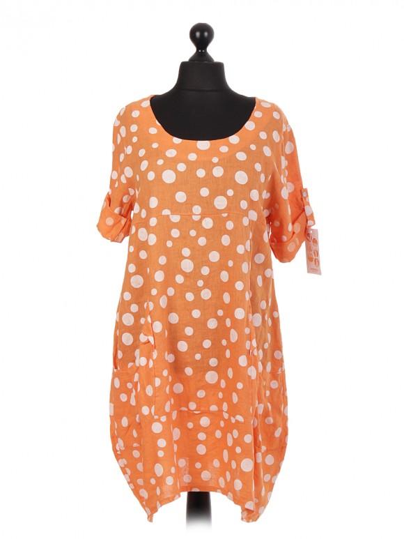 Italian Linen Lagenlook Dress With Pockets