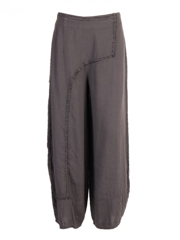 Italian Plain Relaxed Fit Linen Trousers
