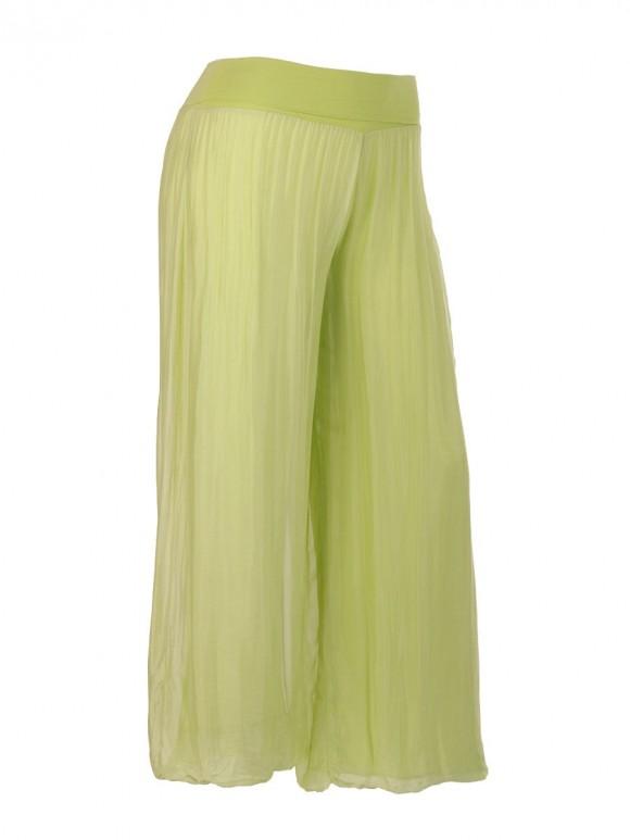 Italian Silk Trouser With Elasticated Waist