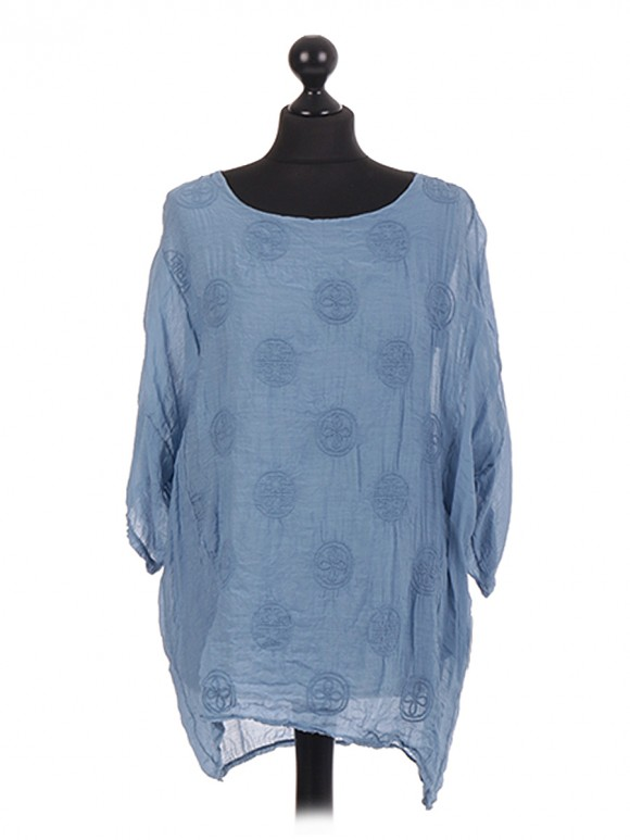 Italian Embroidered Two Layered Top