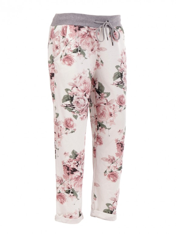 Italian Floral Printed Trouser