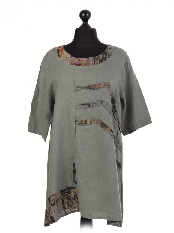 Italian Linen Tunic Top