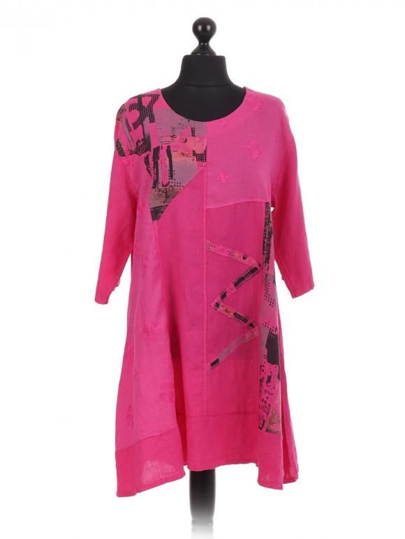 Italian Applique Embroidered Linen Tunic